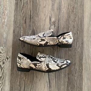 ZARA Snake Print Loafers